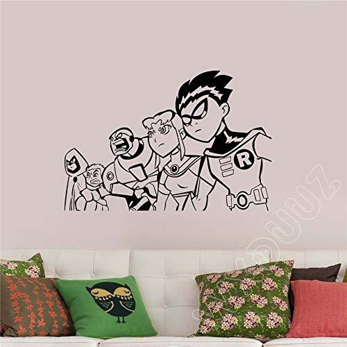 Superhelden Dekor Kindergarten Kinder m Zitat Home Decor Vinyl Wandaufkleber Bedm Pos58 x 40 cm ()
