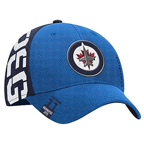 Reebok Winnipeg Jets 2016 Draft Stretch Fit NHL Cap S/M