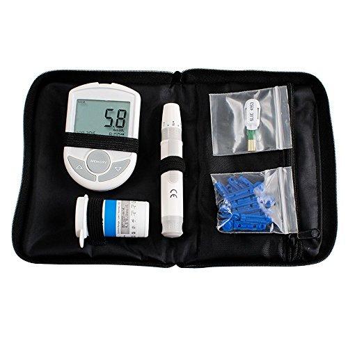 Denshine 2in1 Cholesterin und Glucose Meter Monitor arbeitete mit App für iOS Android Bluetooth 4.0, kostenlos 50 Zucker-Teststreifen und 50 Twist Lancets