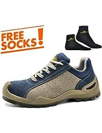 Zapatos de Seguridad con Punta de Acero y Antideslizantes -SAFETOE 7295 Calzado de Seguridad para