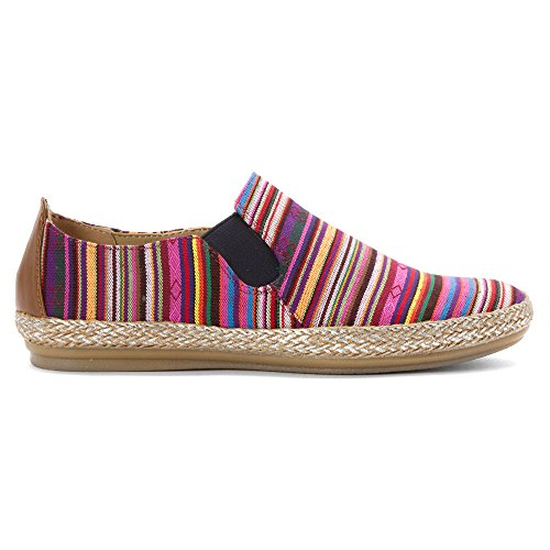 Easy Spirit e360 Gallen Toile Mocassin Pink Multi