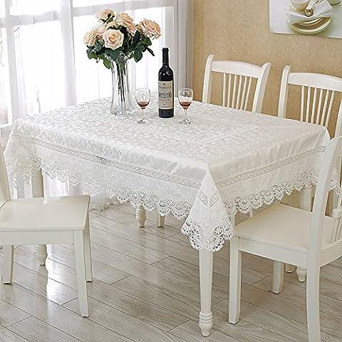 BEEST-Die Tischdecke weiß Tischdecke Spitze Stickerei spitze Tischdecke Tischdecke runde