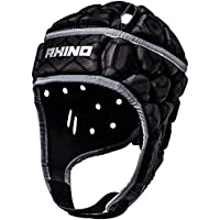 Rhino Pro – Casco protector de rugby – Senior, color negro, ...