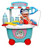 #6: Toyshine Bucket Cum Trolley Baby Car Set Cart Pretend Play Set Toy