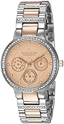 Giordano Analog Rose Gold Dial Womens Watch - P2053-66