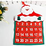 Siswong Santa Claus Countdown to Christmas Calendar Wall Hanging Decoration 41*29cm
