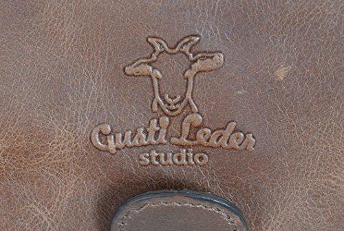 """Gusti Cuir studio """"Phil"""" sac à bandoulière sac business en cuir sac notebook Macbook-Pro 13"""" sac porté épaule mallette en cuir serviette porte-documents style vintage 2B14 Marron"""