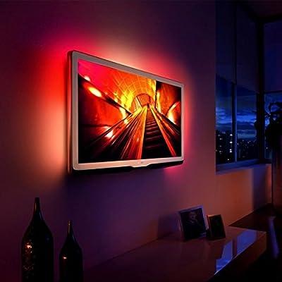 TOP-MAX® Modern Colour Changing 5V RGB 5050 LED Strip USB TV PC Back Mood Light Lighting