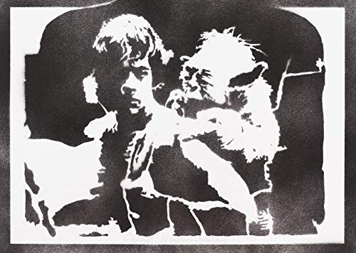 Luke Skywalker Und Yoda STAR WARS Poster Plakat Handmade Graffiti Street Art - Artwork