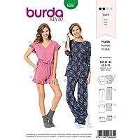 Burda Patron de couture 6261 Hauts, pantalons, shorts, vêtements de nuit 34–44