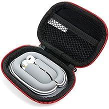 Funda / estuche rígida para Auriculares Sennheiser CX 300-II | MX 375 | MDR-EX15LP | SoundPEATS | Sunvito Deporte . Color negro y rojo - DURAGADGET