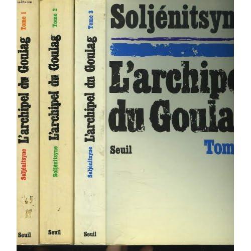 L'ARCHIPEL DU GOULAG EN 3 TOMES.