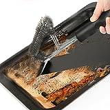 Griglia per barbecue spazzola e raschietto Okpow barbecue spazzole con antiscivolo manico lungo per un facile pulizia griglie
