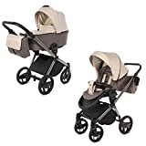 Knorr-Baby Premium Kombi-Kinderwagen-Set Life+ sand-mokka