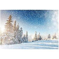 Uonlytech Fondo de Navidad 3D Fondo de Fiesta Decoración navideña Fotografía Estudio Prop 3x5ft