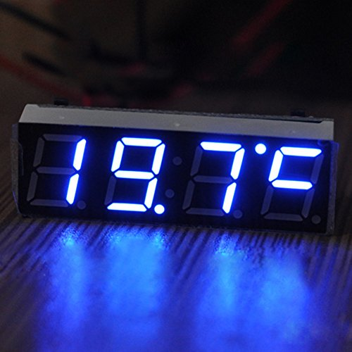candora 3-in-1digitale LED-Autouhr, -Thermometer, -Voltmeter (7–30V)