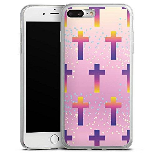 Apple iPhone 5s Slim Case Silikon Hülle Schutzhülle Kreuz Muster Pastell Silikon Slim Case transparent