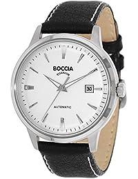 Boccia Herren-Armbanduhr Analog Automatik Leder 3586-01