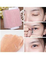 samLIKE 10 Blatt unsichtbare Faser Double Side Adhesive Augenlid Aufkleber Technische Eye Tapes (Rosa)