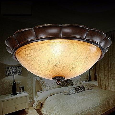 Luce da soffitto continentale mediterraneo retrò ferro lampada da soffitto camera da letto luci cinese di studio minimalista illuminazione atmosferica, 500*250