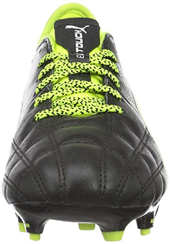 Puma Evotouch 3 Lth Fg, Chaussures de Football Compétition Mixte Adulte Noir - Schwarz (puma black-puma White-safety Yellow 01)