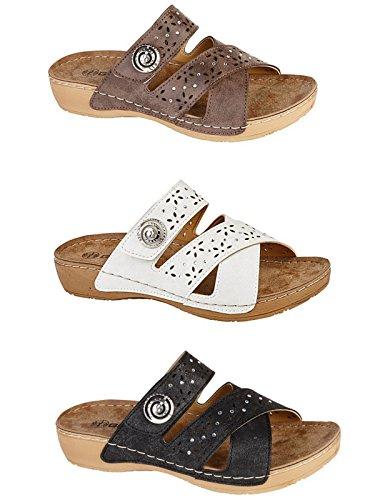 Femmes de Gezer simili cuir découpes à enfiler légère dété faible Wedge Mule Sandales à chaussures 3–8 M/Black
