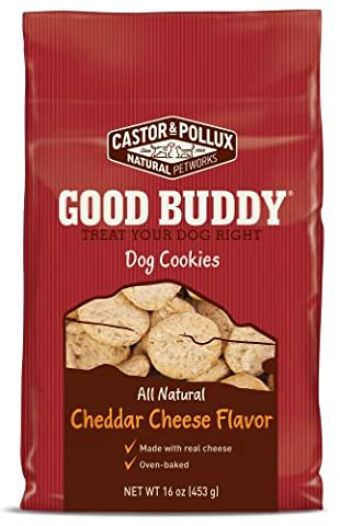 Castor & Pollux Good Buddy Cheddar Cheese Flavored Dog Cookies, 16 Ounce Boxes (Pack of 8)