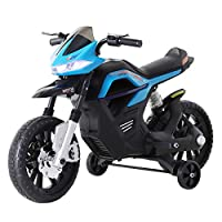 HOMCOM 6V Ride On Battery Powered Motorcycle Forward Reverse Brake Children Electric Scooter Vehicle Two Colors