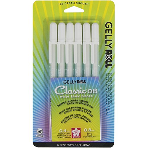 Gelly Roll classico mezzo punto penne 6/Pkg-bianco