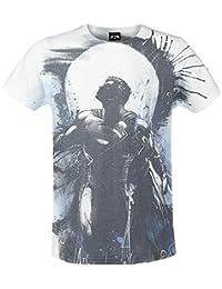 DC Comics - Superman Art Full Printed Homme T-Shirt - Blanc