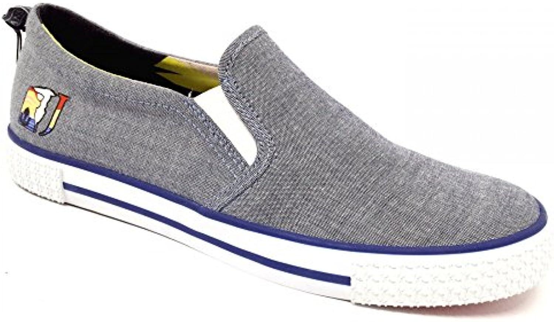Trussardi Jeans Zapatillas de Lona Para Hombre Grigio - Blu -