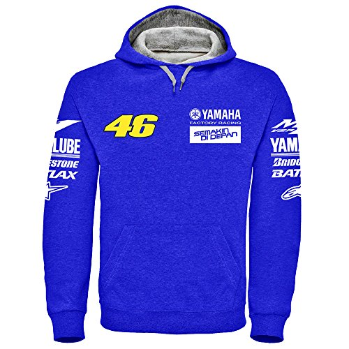 Yamaha Factory Racing Rossi Hoodie - (S - 2XL) (Medium) (Racing Honda Shirts)