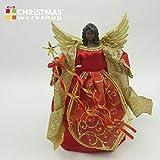 The Christmas Workshop Angelo Albero di Natale, Colore: Rosso e Oro, 30cm di Altezza