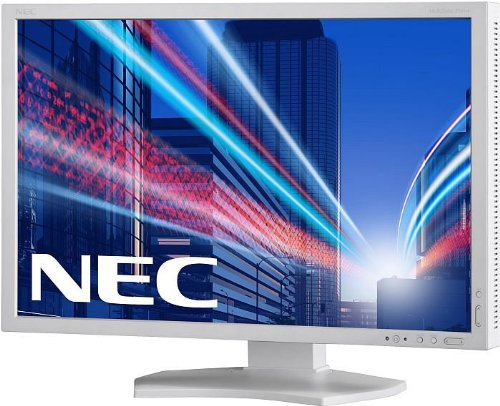 NEC Multisync E223W 22 inch Widescreen LED Monitor - White (16:10, 1680x1050, 1000:1, 5ms, VGA/DVI-D/DisplayPort)