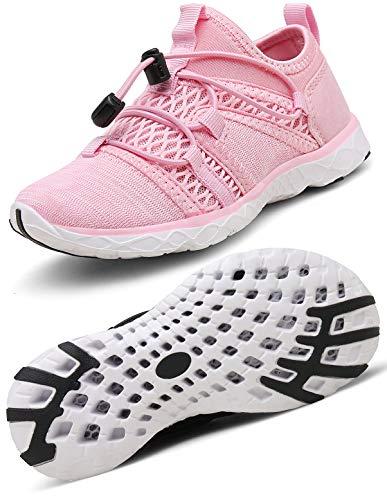 Gaatpot Kinder Badeschuhe Mädchen Jungen Strand Aquaschuhe Wasserschuhe Sport Sneakers Outdoor Sandalen Sommer Aqua Schuhe Pink 25 EU = 26 CN (Sport Mädchen Sandalen)