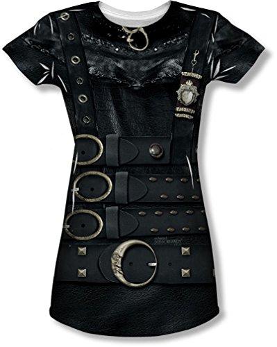 Edward Scissorhands - Junge Frauen Edward-Kostüm-T-Shirt, X-Large, White