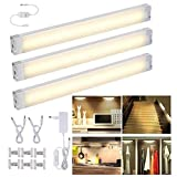 LED sottopensile luce calda, LED Light Bar 3 Pack Dimmerabile 1005lm 3000K Warm White 12W, LED Night Light Kit per cucina Counter Closet Bookshelf Drawer Wardrobe [Classe energetica A ++]