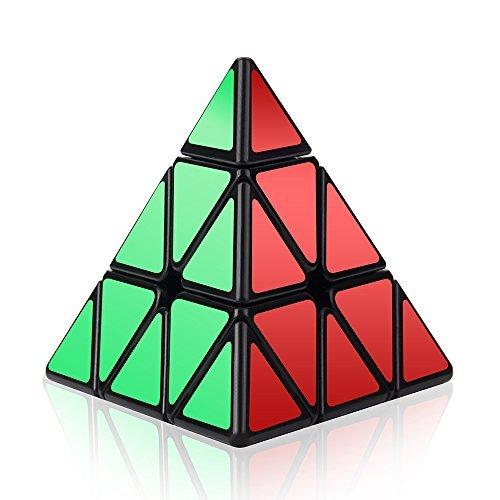 Roxenda Piramide Cubo Magico, Piraminx Speed Cube Triangolo Magic Cube, Liscio Puzzle Cubo di velocità (Piramide Nero)