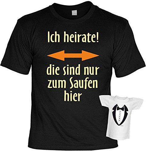 Junggesellenabschied witziges Shirt für Junggesellenfeier Ehe JGA Shirts JGA Outfit JGASHIRT Polterabend Hochzeit - ICH heirate