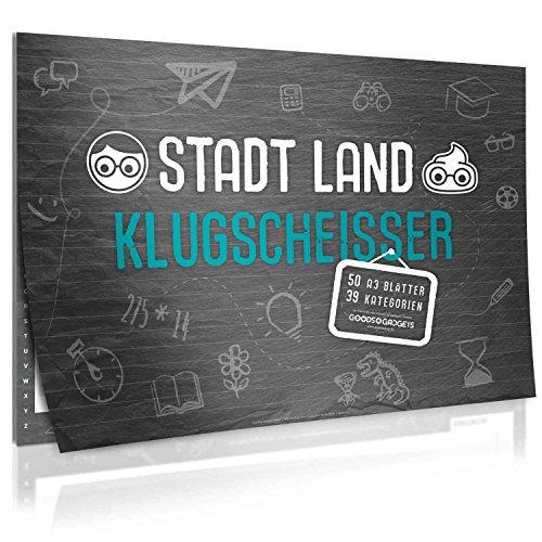 Stadt, Land, Klugscheißer - der Spiele-Klassiker Stadt Land Fluss in der XXL Neuauflage mit 39 Kategorien und vielen Spezialregeln