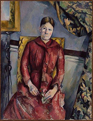 Contemporary Print Kleid (Das Museum Outlet-Portrait Of Madame Cezanne in einem roten Kleid, 1888-90, gespannte Leinwand Galerie verpackt. 40,6x 50,8cm)