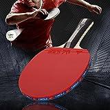 Tischtennisschläger Professioneller Tischtennis-schläger 5 lagiges Holz 2 Stück Schläger + 2 Bälle