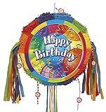 Unique Party Supplies Brilliant Birthday Geburtstags-Piñata, mit Zugband