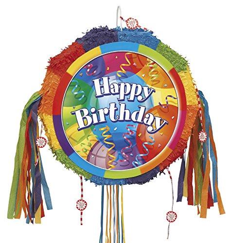 (Unique Party Supplies Brilliant Birthday Geburtstags-Piñata, mit Zugband)