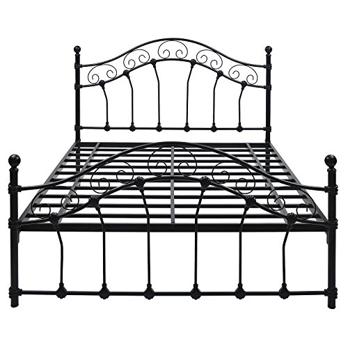 @home by Nilkamal Emma Queen Size Bed without Storage (Matte Finish, Black)