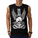 Unlucky Number 13 Lucky Charm Men NEW Black S-2XL Sleeveless T-shirt | Wellcoda