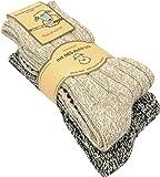 normani 2, 4 oder 6 Paar ABS Stopper-Norweger-Socken -Haussocken - Hausschuhe aus Wolle Farbe Mehrfarbig - 2 Paar Größe 43/46