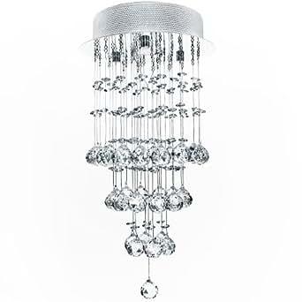 Jago Kristall Deckenleuchte Hängeleuchte Ø 25cm 1x GU10, max 50W