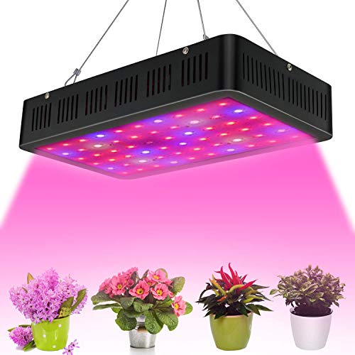 row Light Optical Lense Series Grow Lamp Double 10W Chips Plant Light Full Spectrum with UV&IR and 100 Pcs LEDs for Indoor Plant Veg and Flower ()