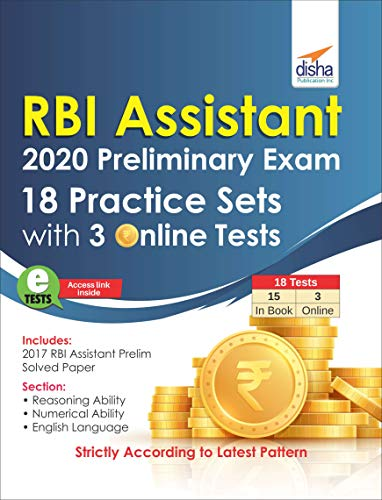 RBI Assistants 2020 Preliminary Exam 18 Practice Sets with 3 Online Tests